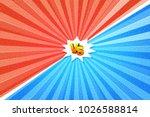 versus letters fight... | Shutterstock .eps vector #1026588814