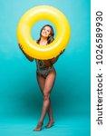 full body sexy woman in... | Shutterstock . vector #1026589930