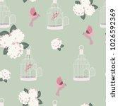 seamless romantic  vintage...   Shutterstock .eps vector #1026592369