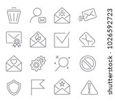 mail icons. vector collection...