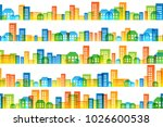 cityscape colorful decorations. ... | Shutterstock .eps vector #1026600538