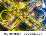 night traffic road with car... | Shutterstock . vector #1026601324
