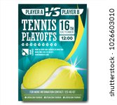 tennis poster vector. design... | Shutterstock .eps vector #1026603010