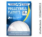 volleyball poster vector.... | Shutterstock .eps vector #1026603013
