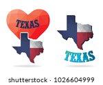 texas map triangle polygon... | Shutterstock .eps vector #1026604999