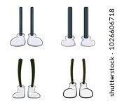 cartoon  comic legs set... | Shutterstock .eps vector #1026606718