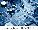 close up of electronic circuit... | Shutterstock . vector #102660848