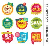 modern sale stickers and tags... | Shutterstock .eps vector #1026626476