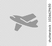 airplane vector icon eps 10.... | Shutterstock .eps vector #1026629650