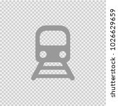 railway train vector icon eps... | Shutterstock .eps vector #1026629659