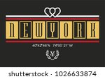 new york writing typography ... | Shutterstock .eps vector #1026633874