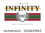 infinity writing typography ... | Shutterstock .eps vector #1026635863