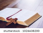 old bible book with  blurred... | Shutterstock . vector #1026638200