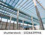 steel truss and purlin metal... | Shutterstock . vector #1026639946