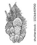 graphic design with prehistoric ... | Shutterstock .eps vector #1026640900