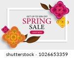 spring sale poster  banner ... | Shutterstock .eps vector #1026653359