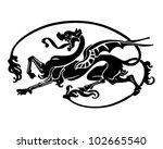 dragon tattoo   retro clipart... | Shutterstock .eps vector #102665540