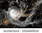 hurricane over northeastern... | Shutterstock . vector #1026660016