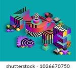 the word love written in a... | Shutterstock .eps vector #1026670750