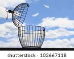 freedom concept. escaping from... | Shutterstock . vector #102667118