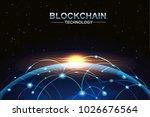 blockchain and bitcoin...   Shutterstock .eps vector #1026676564