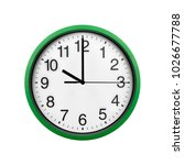 green wall clock isolated on...   Shutterstock . vector #1026677788
