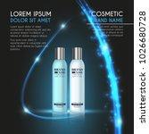 3d realistic cosmetic bottle... | Shutterstock .eps vector #1026680728