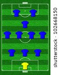 soccer field layout with... | Shutterstock . vector #102668150