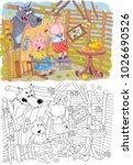 three little pigs. fairy tale....   Shutterstock . vector #1026690526
