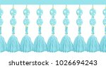 vector seamless border pattern. ... | Shutterstock .eps vector #1026694243
