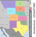 vector set of great plains of... | Shutterstock .eps vector #1026697480