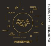 agreement icon concept | Shutterstock .eps vector #1026700948