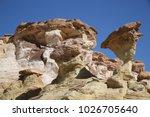 white hoodoos  chimney rock ... | Shutterstock . vector #1026705640