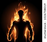 man in fire | Shutterstock .eps vector #1026708019