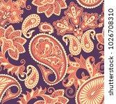 paisley seamless pattern.... | Shutterstock . vector #1026708310