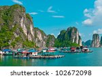 view of floating village in... | Shutterstock . vector #102672098