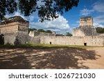 majestic ruins in chichen itza... | Shutterstock . vector #1026721030
