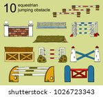 set vector isolated obstacle... | Shutterstock .eps vector #1026723343
