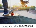 skateboarder legs skateboarding ... | Shutterstock . vector #1026723604