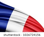 France   Flag Of Silk With...