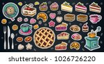 bakery pastry sweets desserts... | Shutterstock .eps vector #1026726220