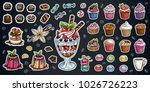 bakery pastry sweets desserts... | Shutterstock .eps vector #1026726223