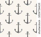 anchor pattern. seamless vector ...   Shutterstock .eps vector #1026726610