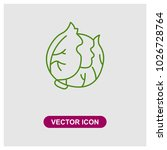 cabbage vector icon | Shutterstock .eps vector #1026728764