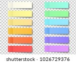 post note sticky stickers with... | Shutterstock .eps vector #1026729376