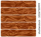 five wooden boards. abstract... | Shutterstock . vector #1026730999