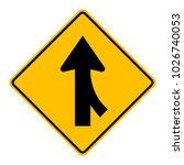 warning traffic sign traffic... | Shutterstock .eps vector #1026740053