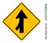 warning traffic sign traffic... | Shutterstock .eps vector #1026742840