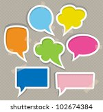 set of colorful speech bubbles | Shutterstock .eps vector #102674384