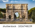 the arch of constantine is a... | Shutterstock . vector #1026748159